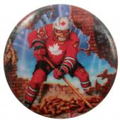 Iron Maiden - 'Eddie Hockey Canada' Button Badge